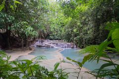 Tat Kuang SiKouangxi Water Fall stock image