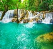 Tat Sae Waterfalls. Beautiful landscape, Laos Royalty Free Stock Photo