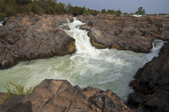 Tat Somphamit (Li Phi Falls) royalty free stock image