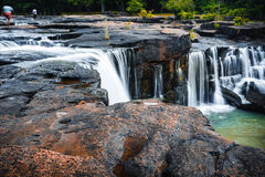 Tat Ton vattenfall, Thailand Royaltyfri Bild