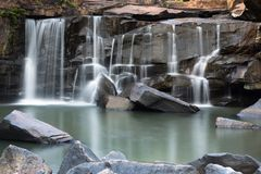 Tat Ton Waterfall, Chaiyaphum, Thailand stock afbeelding