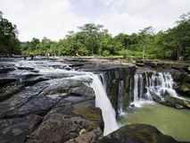 Tat Ton Waterfall at Chaiyaphum in Thailand. Stock Images