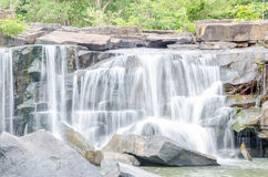 Tat Ton Waterfall in Thailand Stock Photo