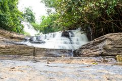 Tat Yai waterfall Phuphaman National Park, Khon Kaen, Thailand. 2017-10-24 stock images