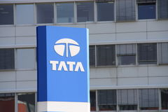 Tata. Shot of Tata logo Stock Photography