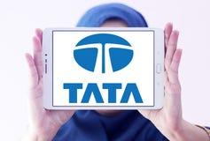 Tata car logo. Logo of tata car brand on samsung tablet holded by arab muslim woman Royalty Free Stock Images