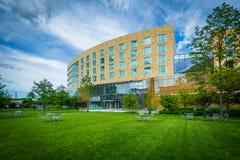 Tata Hall på den Harvard Business skolan, i Boston, Massachusetts Royaltyfri Bild