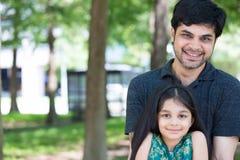 Tata i dziewczyna obraz stock