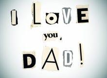 tata ja kocham ty Zdjęcia Stock