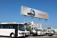 Tata Motors Dealership en Muscat, Omán Imagen de archivo libre de regalías