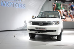 A Tata Safari Storme on display at Auto Expo 2012 Stock Images