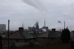Tata steel factory. Port Talbot steel works Stock Photo