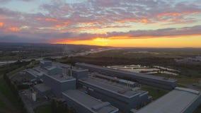 Tata Steel. Sunset at Shotton Royalty Free Stock Photo