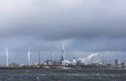 Tata Steel and Wind Mills IJmuiden Stock Photography
