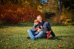 Tata sztuki z jego córką obrazy royalty free