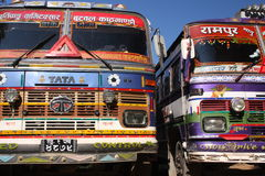 Tata trucks. Colorful Tata trucks which are omnipresent in India and Nepal Stock Image