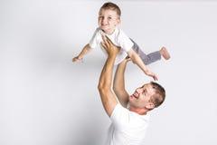 Tata z synem zdjęcia stock