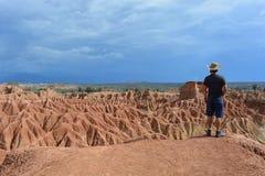 Tatacoa沙漠的风景,在Neiva,哥伦比亚 库存图片
