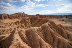 The Tatacoa desert. Erosion in the Tatacoa desert Colombia Royalty Free Stock Photos