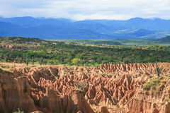 Tatacoa Desert. Panoramic view of Tatacoa desert at Colombia Royalty Free Stock Photo