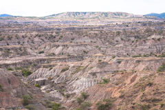 Tatacoa Desert. Panoramic view of Tatacoa desert at Colombia Stock Photography