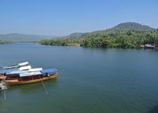 Tatai河,戈公岛,柬埔寨 免版税库存照片