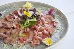 Tataki-Rindfleisch Stockfotos