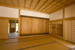Tatami. Japanese style room in okinawa prefecture with tatami floor Royalty Free Stock Images