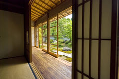 Tatami et Shoji la vieille salle japonaise. Photos stock