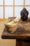 Tatami and green tea Royalty Free Stock Photo