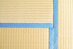 Tatami with light blue edging, ribbon Stock Photos
