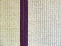 Tatami mat closeup with violet edging (heri). Stock Photography
