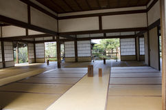 Tatami Raum in einem Tempel in Japan Stockbild