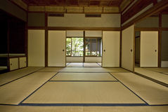 Tatami and Shoji the old Japanese room. Royalty Free Stock Images