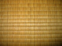 Tatami texture. Japanese floor cover, named tatami. Hand-made out of straws and assembled on the floor in big tiles Royalty Free Stock Image