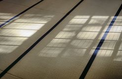 Tatami. Traditional japanese tatami mat with shadows from a window Stock Photography