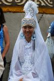 Tatar εθνικό κοστούμι Sabantuy συμμετεχόντων στοκ φωτογραφία