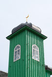 Tatar church tower. Tatar church wooden green tower royalty free stock photography