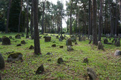 Tatar graveyard in Poland Stock Images