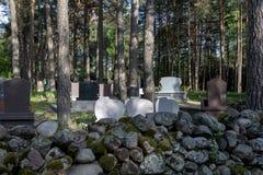 Tatar Muzułmański cmentarz wymieniał Mizar w Kruszyniany, Obraz Stock