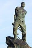 Tatar poet Musa Dzhalil. Monument of the Tatar poet Musa Dzhalil (Mussa Jalil) near Kazan Kremlin, Russia Stock Image