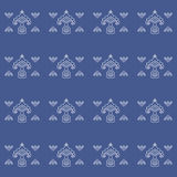 Tatar stylized flower pattern. Stock Photo