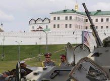 Tatarien überwachen Tage polizeilich. APC Lizenzfreie Stockbilder
