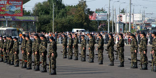 Tatarien überwachen Tage polizeilich. Besondere Kräfte Stockfotografie