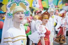 TATARSK,俄罗斯:2013年6月27日-文化奥林匹克competitio 免版税图库摄影