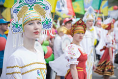 TATARSK, RUSSIA: JUNE 27, 2013 - The Culture Olympics competitio Royalty Free Stock Photography