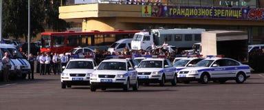Tatarstan police days. Highway police. Tatarstan police occasion days in Kazan. Highway police cars Royalty Free Stock Photos