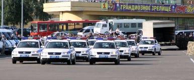 Tatarstan police days. Highway police. Tatarstan police occasion days in Kazan. Highway police cars Stock Image