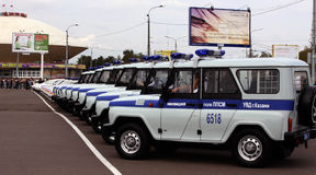 Tatarstan police days. Police cars Stock Images