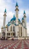 TATARSTAN, RUSSIA - JULY 11, 2015: Kul-Sharif Mosque in the sity Kazan, Tatarstan, Russia. Royalty Free Stock Image